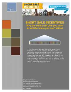 Short Sale Bank Incentives Whitepaper